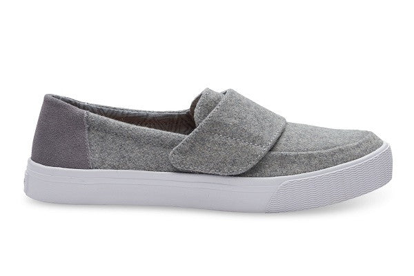 GREY FELT SUEDE WOMEN'S ALTAIR SLIP-ONS - SustainTheFuture.us - The Natural and Organic Way of Life