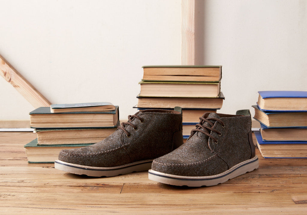 DARK EARTH HERRINGBONE/LEATHER MEN'S CHUKKA BOOTS - SustainTheFuture.us - The Natural and Organic Way of Life