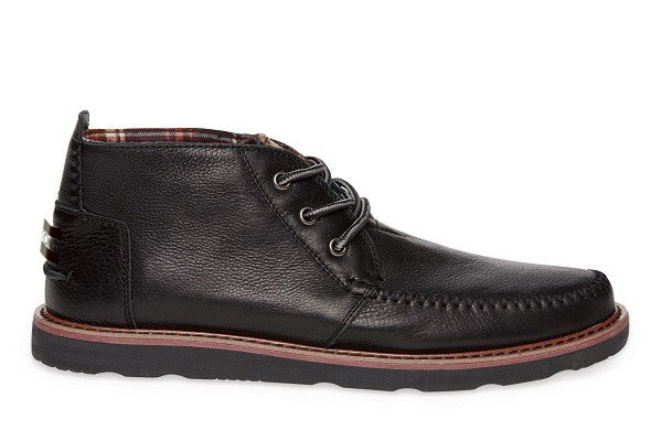 BLACK FULL GRAIN LEATHER MEN'S CHUKKA BOOTS - SustainTheFuture.us - The Natural and Organic Way of Life