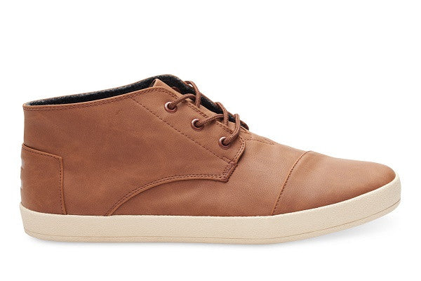 DARK EARTH SYNTHETIC LEATHER MEN'S PASEO-MID SNEAKERS - SustainTheFuture.us - The Natural and Organic Way of Life