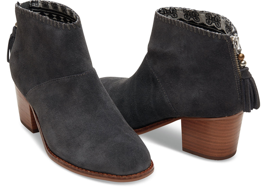 CASTLEROCK GREY SUEDE WOMEN'S LEILA BOOTIES