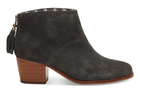 CASTLEROCK GREY SUEDE WOMEN'S LEILA BOOTIES - SustainTheFuture.us - The Natural and Organic Way of Life