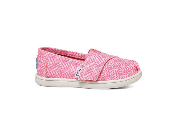 NEON PINK PRINTED TEXTILE TINY TOMS CLASSICS - SustainTheFuture.us - The Natural and Organic Way of Life