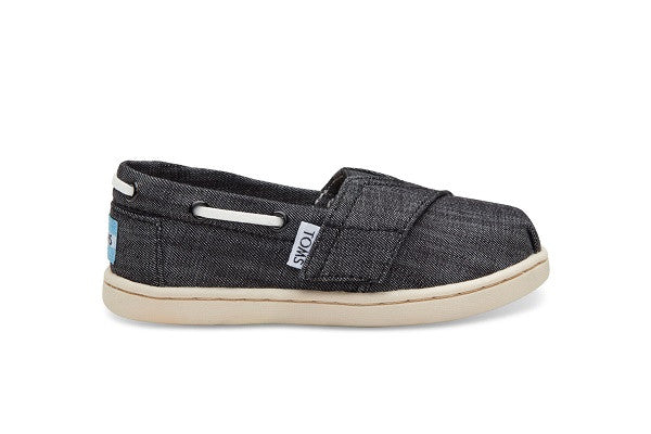 BLACK CHAMBRAY TINY TOMS BIMINIS - SustainTheFuture.us - The Natural and Organic Way of Life