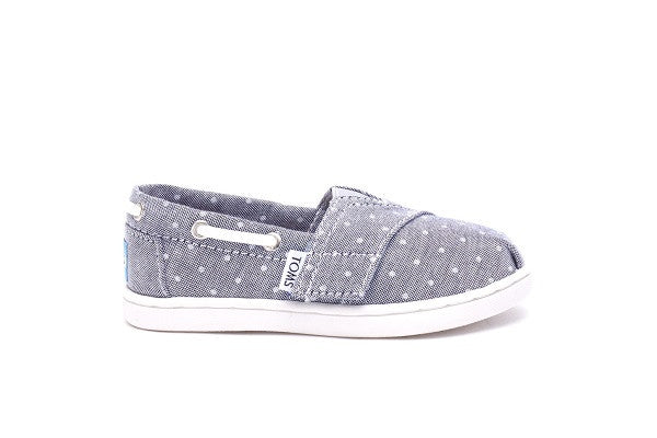 GREY CHAMBRAY POLKA DOT TINY TOMS BIMINIS