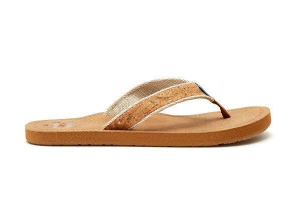 CORK GLITZ WOMEN'S SOLANA FLIP-FLOPS - SustainTheFuture.us - The Natural and Organic Way of Life