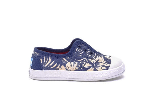 BLUE CANVAS FLORAL TINY TOMS ZUMA SNEAKERS - SustainTheFuture.us - The Natural and Organic Way of Life