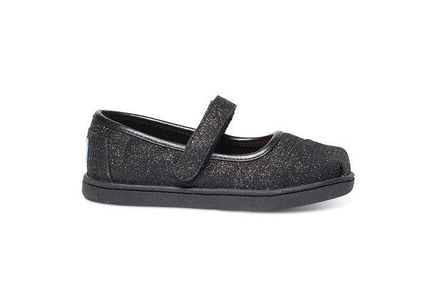BLACK GLIMMER TINY TOMS MARY JANES - SustainTheFuture.us - The Natural and Organic Way of Life