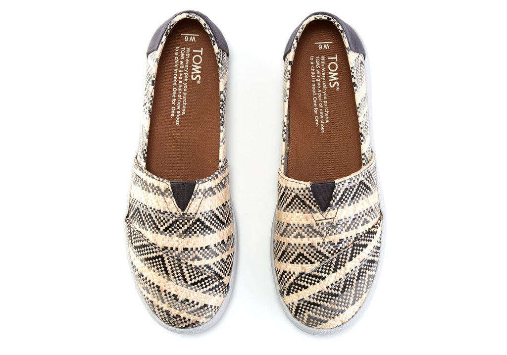 NATURAL GREY WOVEN WOMEN'S AVALON SLIP-ONS - SustainTheFuture.us - The Natural and Organic Way of Life