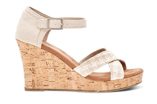 NATURAL WOVEN WOMEN'S CORK STRAPPY WEDGES - SustainTheFuture.us - The Natural and Organic Way of Life
