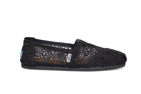 BLACK MOROCCAN CROCHET WOMEN'S CLASSICS - SustainTheFuture.us - The Natural and Organic Way of Life