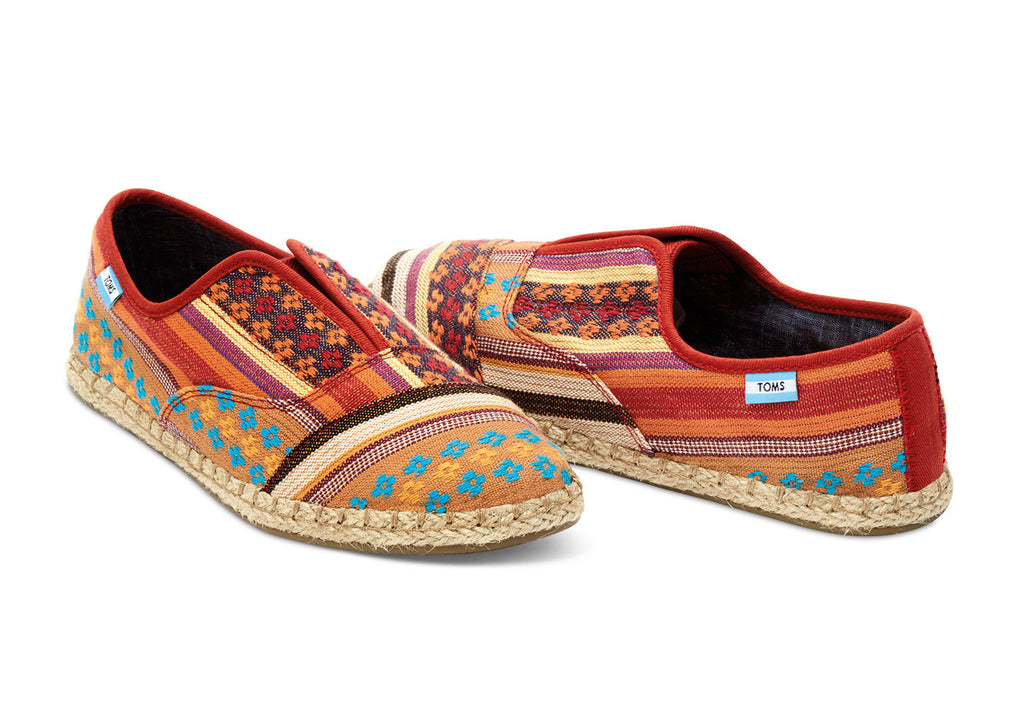 CAYENNE MULTI STRIPE WOMEN'S PALMERA SLIP-ONS - SustainTheFuture.us - The Natural and Organic Way of Life
