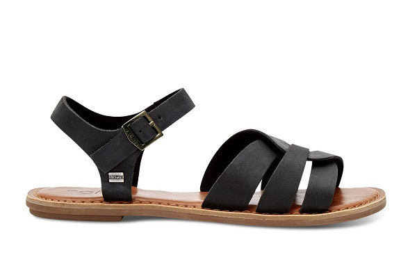 BLACK LEATHER WOMEN'S ZOE SANDALS - SustainTheFuture.us - The Natural and Organic Way of Life
