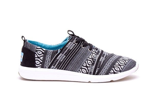 BLACK WHITE CULTURAL WOVEN WOMEN'S DEL REY SNEAKER - SustainTheFuture.us - The Natural and Organic Way of Life