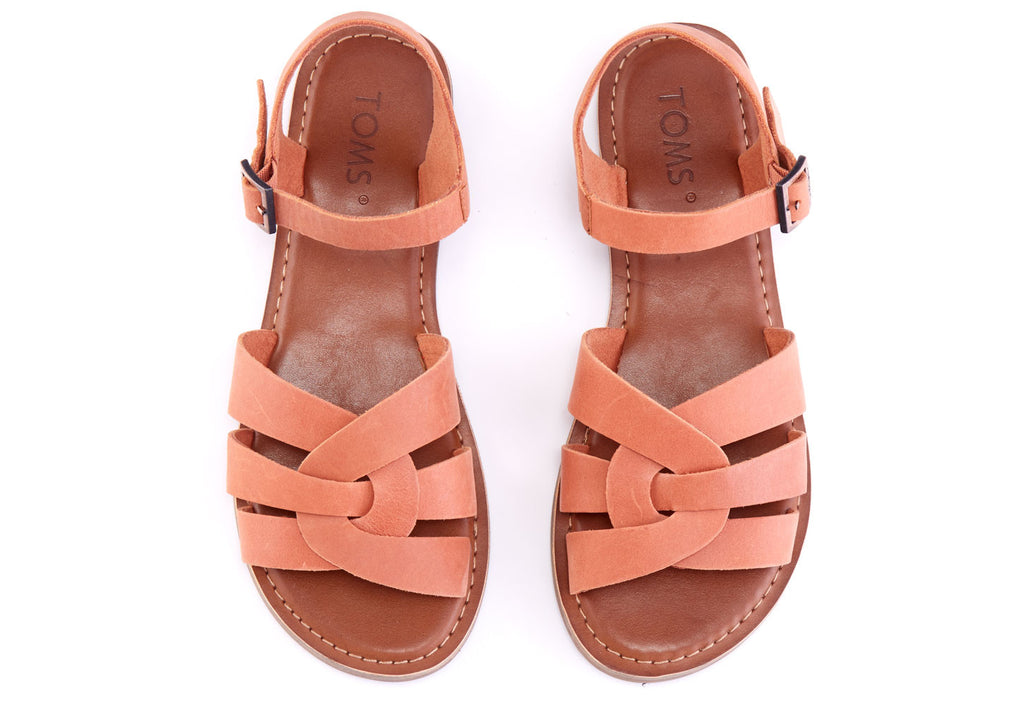 BROWN LEATHER WOMEN'S ZOE SANDALS