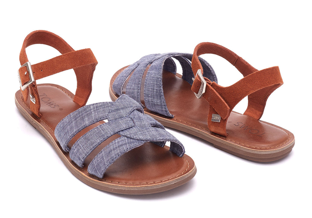CHAMBRAY BROWN SUEDE WOMEN'S ZOE SANDALS