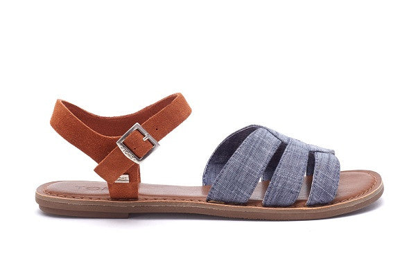 CHAMBRAY BROWN SUEDE WOMEN'S ZOE SANDALS - SustainTheFuture.us - The Natural and Organic Way of Life