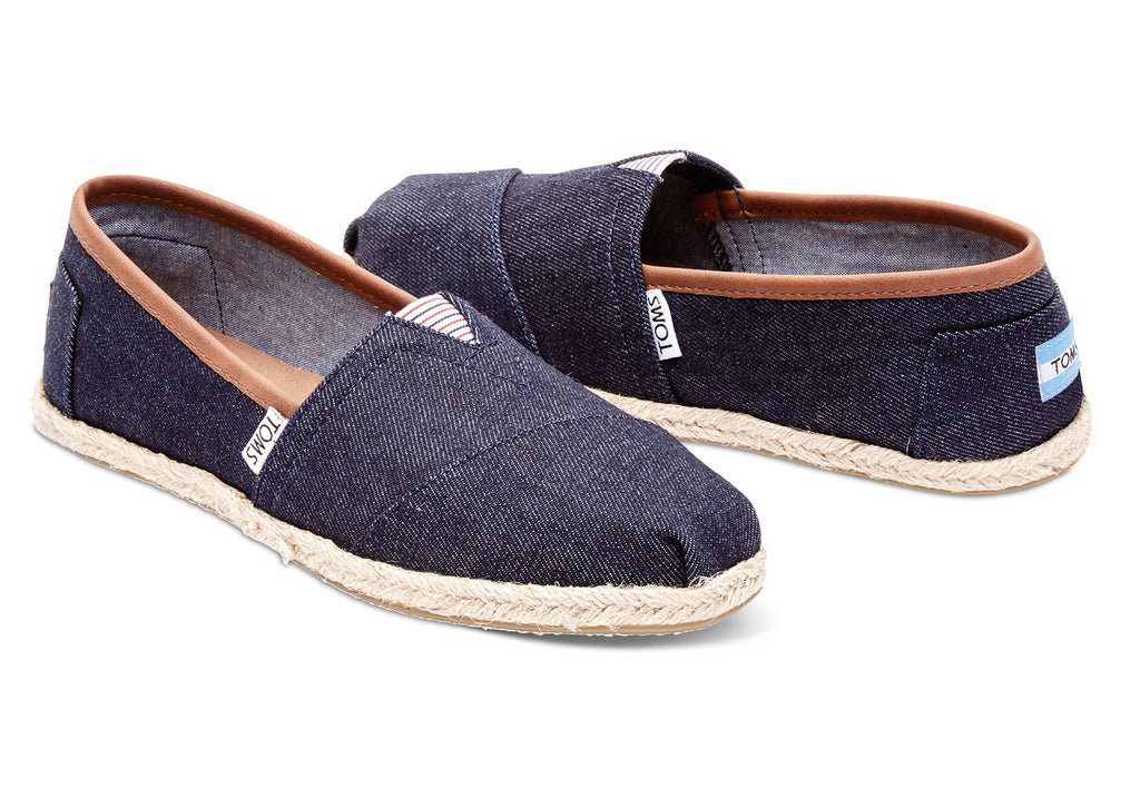 DARK DENIM ROPE SOLE WOMEN'S CLASSICS - SustainTheFuture.us - The Natural and Organic Way of Life