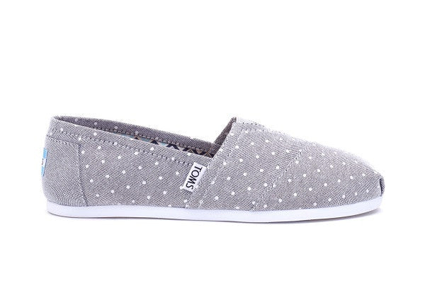 GREY CHAMBRAY POLKA DOT WOMEN'S CLASSICS - SustainTheFuture.us - The Natural and Organic Way of Life