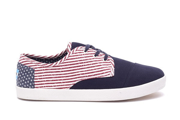 AMERICANA CANVAS FLAG MEN'S PASEO SNEAKERS - SustainTheFuture.us - The Natural and Organic Way of Life