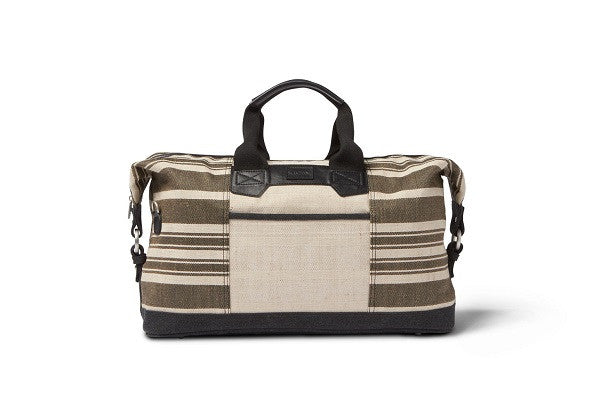 BLACK TWO TONED STRIPE TRAVELER WEEKENDER - SustainTheFuture.us - The Natural and Organic Way of Life