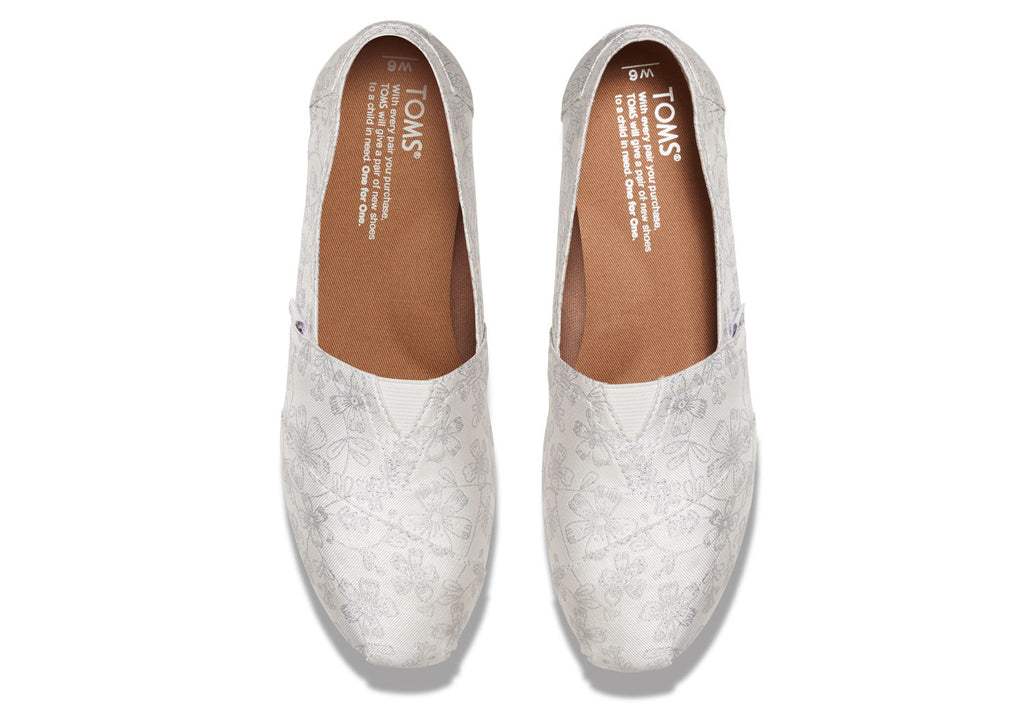 IVORY SILVER FLORAL JACQUARD WOMEN'S CLASSICS - SustainTheFuture.us - The Natural and Organic Way of Life