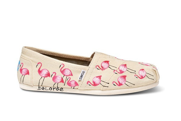 HAITI ARTIST COLLECTIVE NATURAL FLAMINGO WOMEN'S CANVAS CLASSICS - SustainTheFuture.us - The Natural and Organic Way of Life
