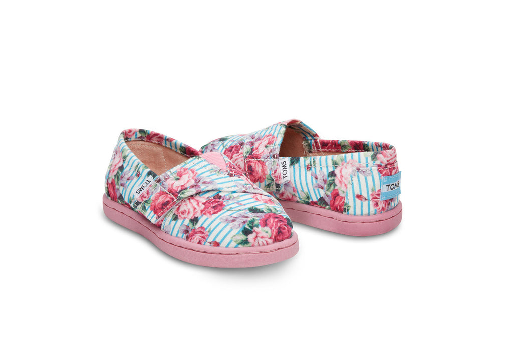FLORAL STRIPES TINY TOMS CLASSICS - SustainTheFuture.us - The Natural and Organic Way of Life