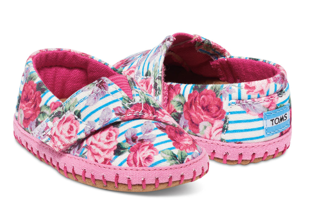 FLORAL STRIPES TINY TOMS CRIB ALPARGATAS - SustainTheFuture.us - The Natural and Organic Way of Life