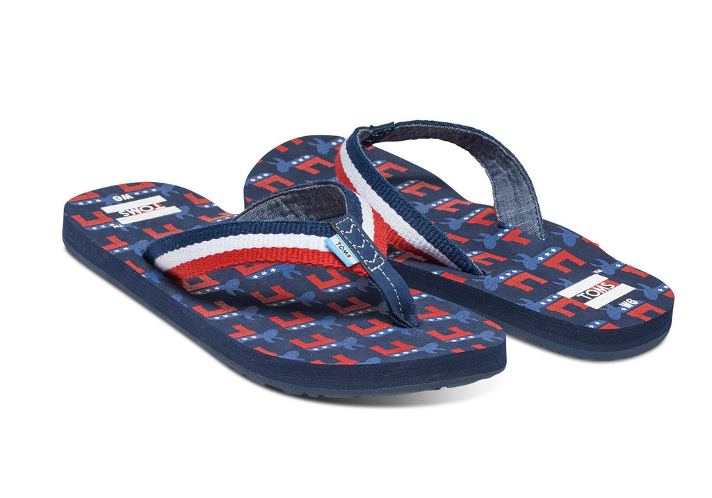 ELECTION ELEPHANTS WOMEN'S SOLANA FLIP-FLOPS - SustainTheFuture.us - The Natural and Organic Way of Life