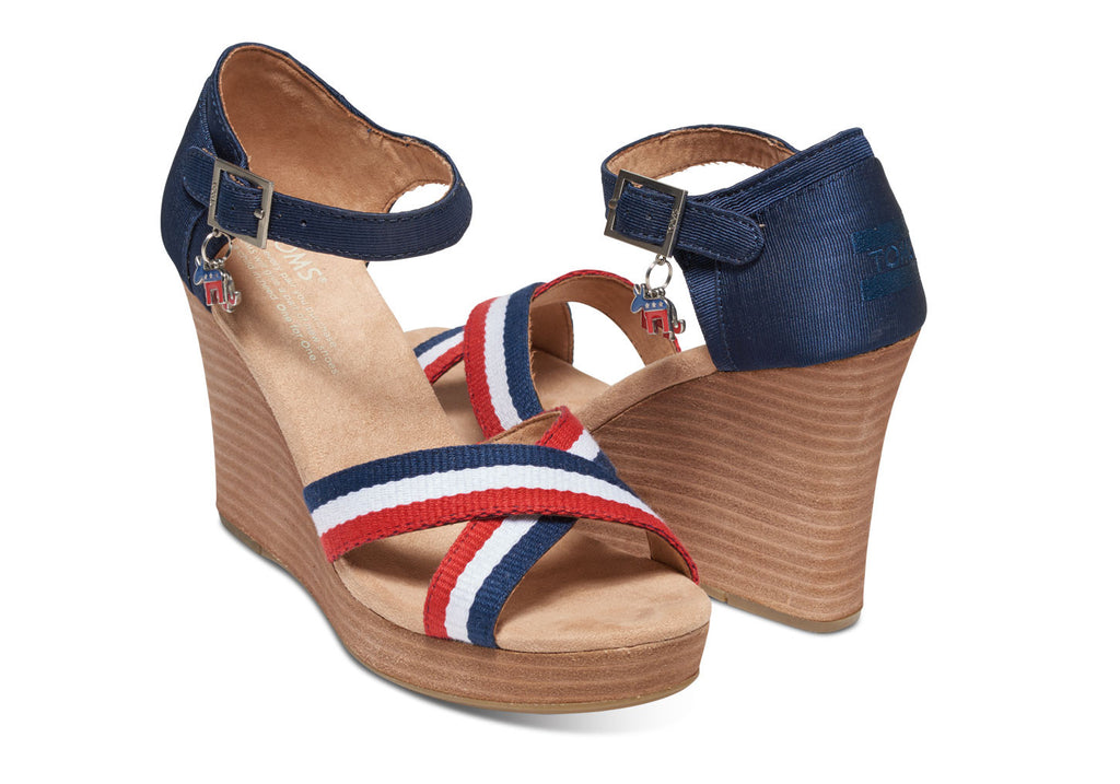 ELECTION CHARMS WOMEN'S STRAPPY WEDGES - SustainTheFuture.us - The Natural and Organic Way of Life