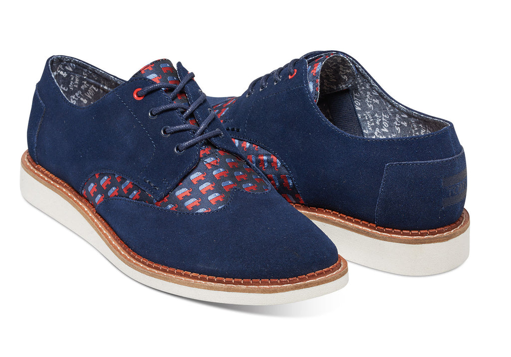 ELECTION ELEPHANTS MEN'S BROGUES - SustainTheFuture.us - The Natural and Organic Way of Life