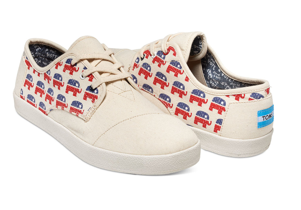 ELECTION ELEPHANTS MEN'S PASEO SNEAKERS - SustainTheFuture.us - The Natural and Organic Way of Life