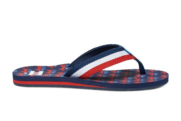 ELECTION ELEPHANTS VERANO MEN'S FLIP-FLOPS - SustainTheFuture.us - The Natural and Organic Way of Life