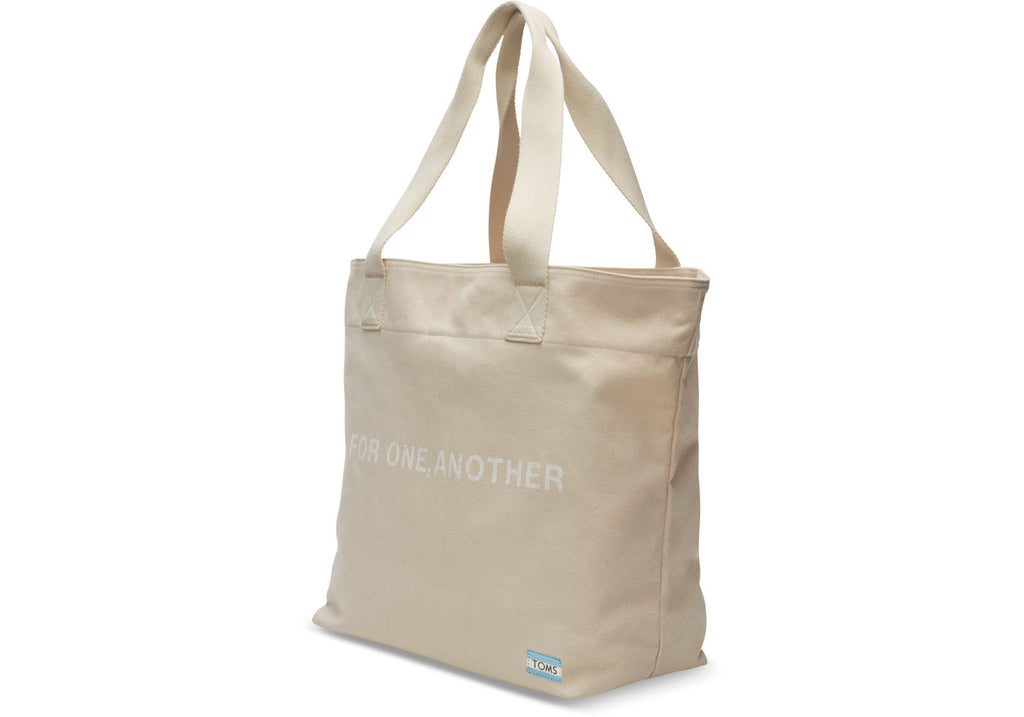 NATURAL FOR ONE ANOTHER TRANSPORT TOTE BAG - SustainTheFuture.us - The Natural and Organic Way of Life