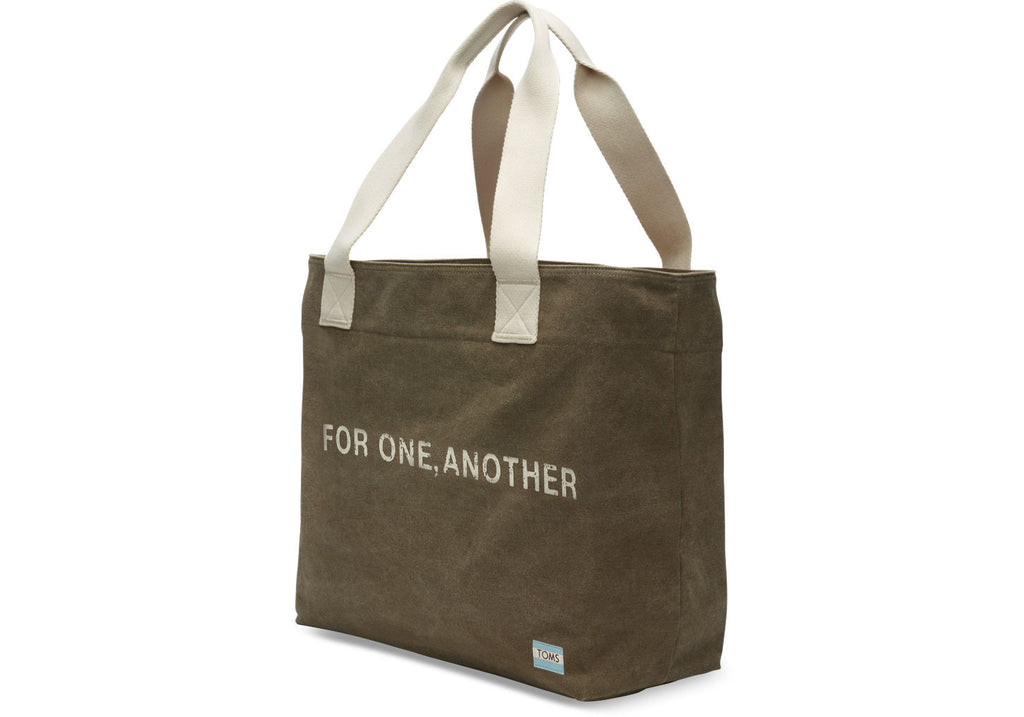 OLIVE FOR ONE ANOTHER TRANSPORT TOTE BAG