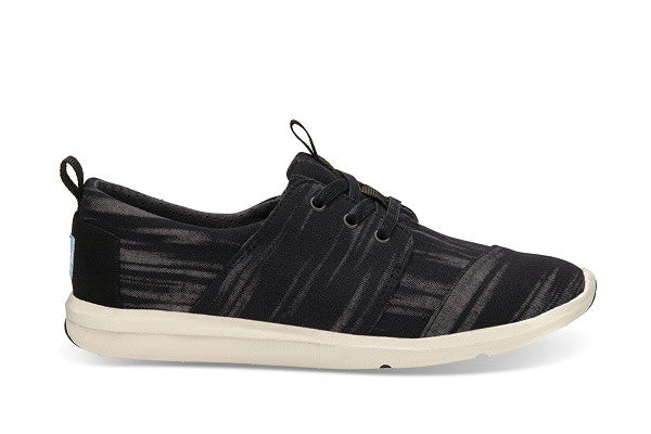 BLACK BRUSHED WOVEN WOMEN'S DEL REY SNEAKERS - SustainTheFuture.us - The Natural and Organic Way of Life