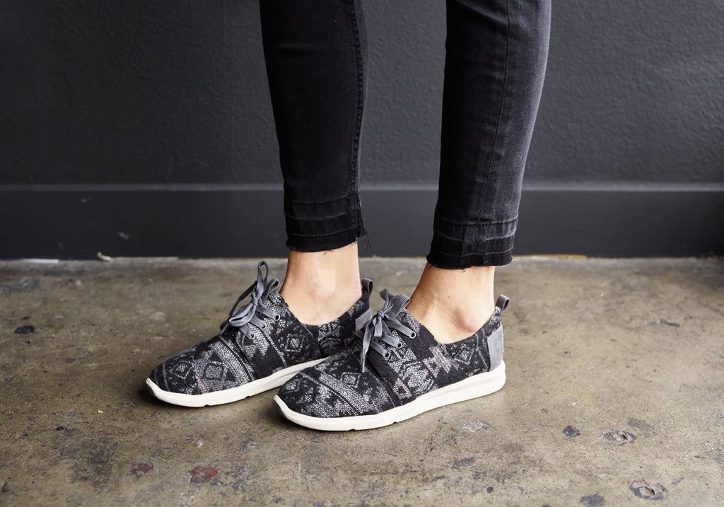 GREY TRIBAL WOOL WOMEN'S DEL REY SNEAKERS
