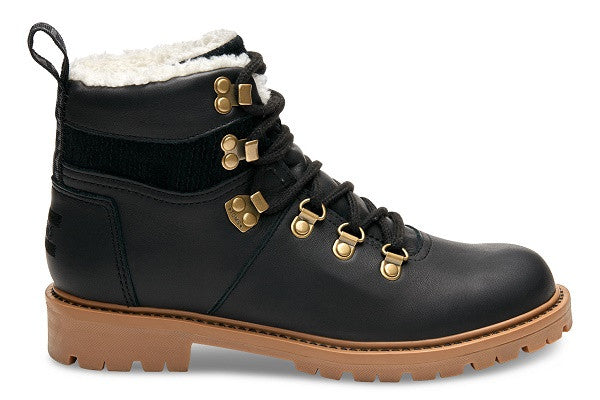 BLACK WATERPROOF LEATHER WOMEN'S SUMMIT BOOTS - SustainTheFuture.us - The Natural and Organic Way of Life