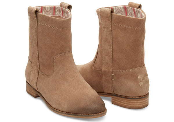 AMPHORA BURNISHED SUEDE WOMEN'S LAUREL BOOTS - SustainTheFuture.us - The Natural and Organic Way of Life