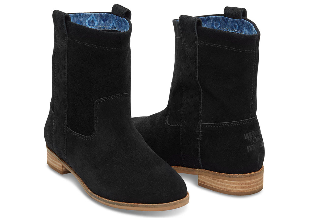 BLACK SUEDE WOMEN'S LAUREL BOOTS - SustainTheFuture.us - The Natural and Organic Way of Life