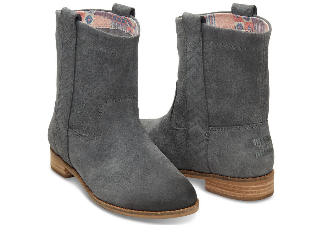 CASTLEROCK GREY BURNISHED SUEDE WOMEN'S LAUREL BOOTS - SustainTheFuture.us - The Natural and Organic Way of Life