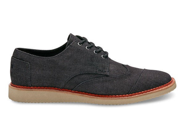 BLACK DENIM MEN'S BROGUES - SustainTheFuture.us - The Natural and Organic Way of Life