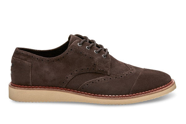 CHOCOLATE BROWN SUEDE MEN'S BROGUES - SustainTheFuture.us - The Natural and Organic Way of Life
