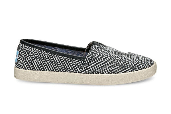 BLACK GEOMETRIC WOVEN WOMEN'S AVALON SLIP-ONS - SustainTheFuture.us - The Natural and Organic Way of Life