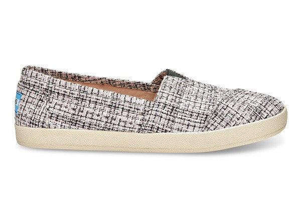 BLACK AND PINK BOUCLE WOMEN'S AVALON SLIP-ONS - SustainTheFuture.us - The Natural and Organic Way of Life