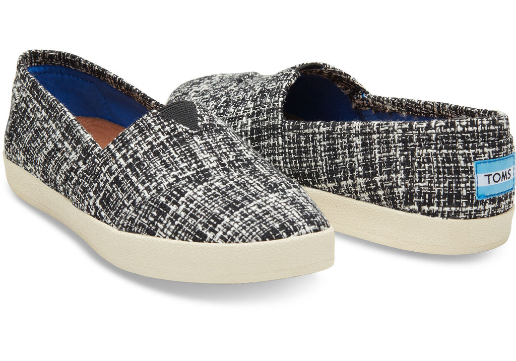 BLACK AND PINK BOUCLE WOMEN'S AVALON SLIP-ONS