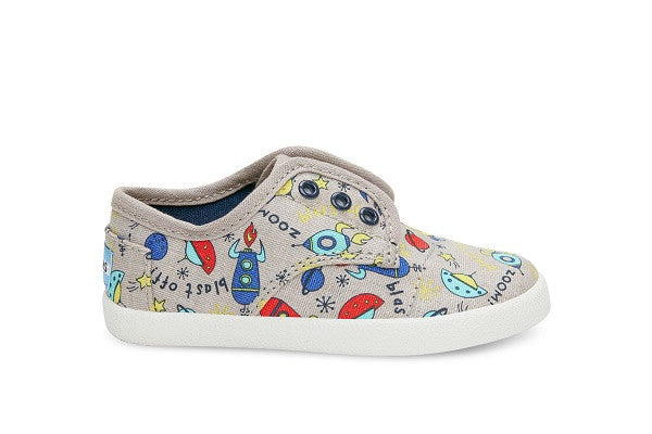 GREY CANVAS SPACESHIPS TINY TOMS PASEOS