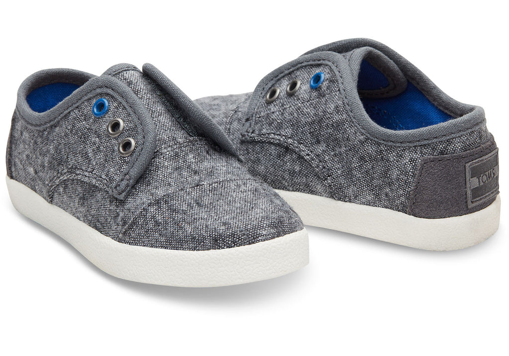 GREY WOOL TINY TOMS PASEO SNEAKERS