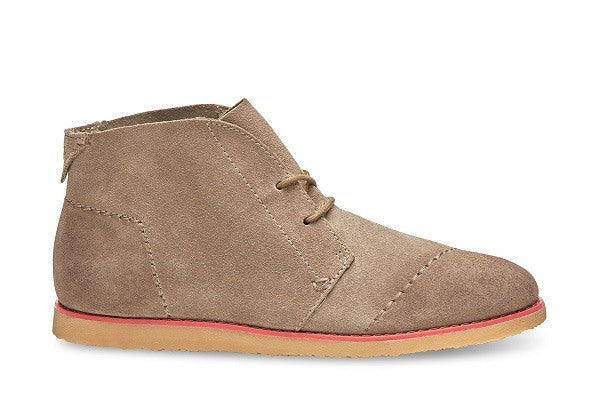 DESERT TAUPE BURNISHED SUEDE WOMEN'S MATEO CHUKKA BOOTIES - SustainTheFuture.us - The Natural and Organic Way of Life